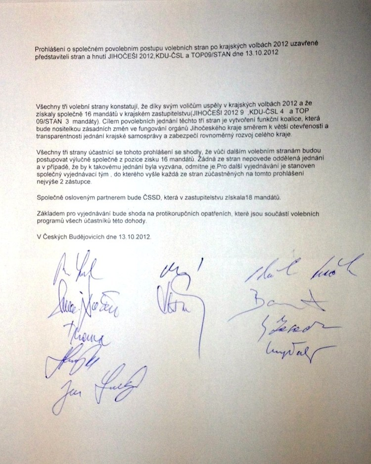 Obrázek kčlánku Uzavřeli jsme dohodu sTOP 09aKDU-ČSL