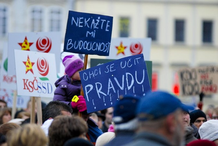 Obrázek kčlánku Demonstrace 17.listopadu (2012)