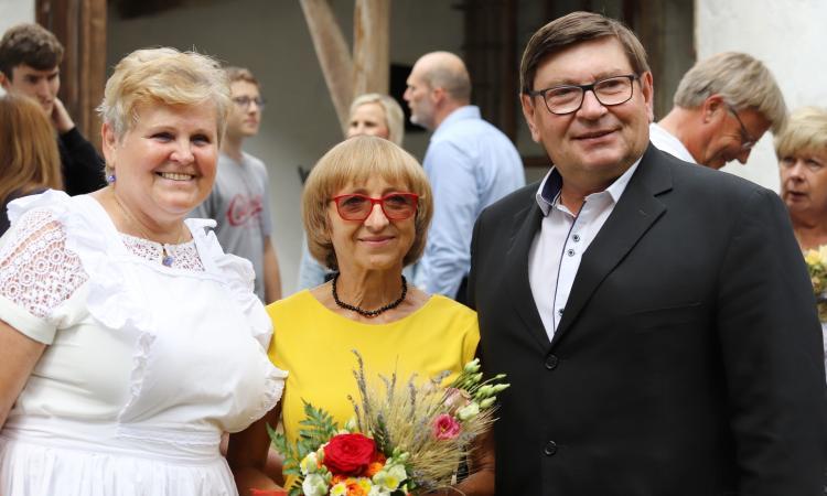 Obrázek kčlánku Pavel Hroch se zúčastnil dožínek vhoslovickém mlýně